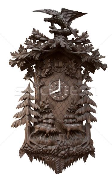 Traditioneel houten koekoek klok rijke ingericht Stockfoto © prill