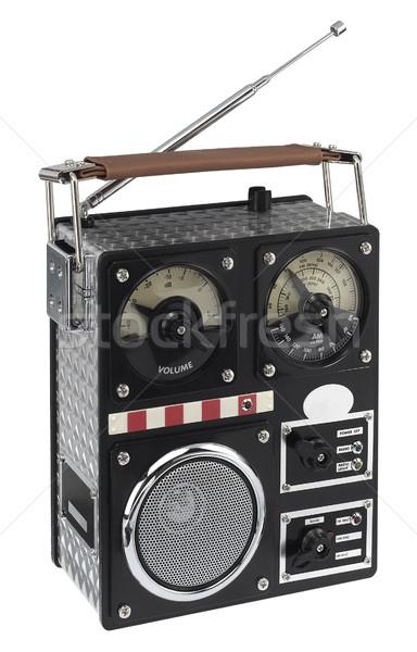 Engraçado rádio nostálgico estúdio fotografia branco Foto stock © prill