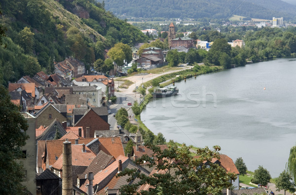 Stock photo: Miltenberg aerial view at summer time