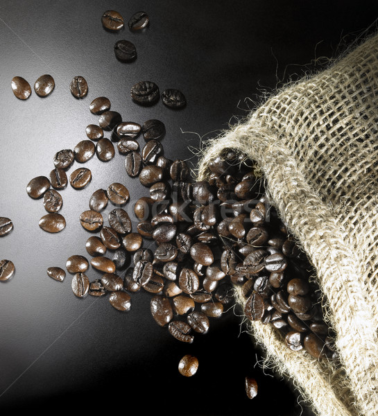 coffee beans and jute bag Stock photo © prill