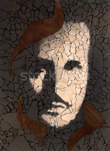 stone picture Stock photo © prill