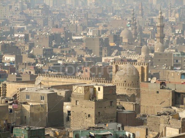 Cairo including Mosque of Ibn Tulun Stock photo © prill