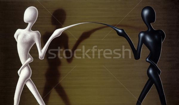 Stok fotoğraf: Sembolik · ayırma · resim · boyalı · bana · parçalanma