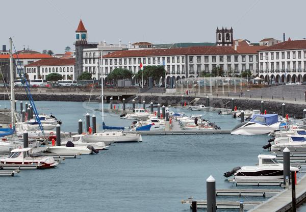 harbor at Ponta Delgada Stock photo © prill
