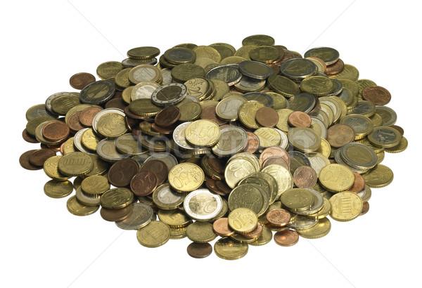 Euro munten veiligheid financieren store Stockfoto © prill