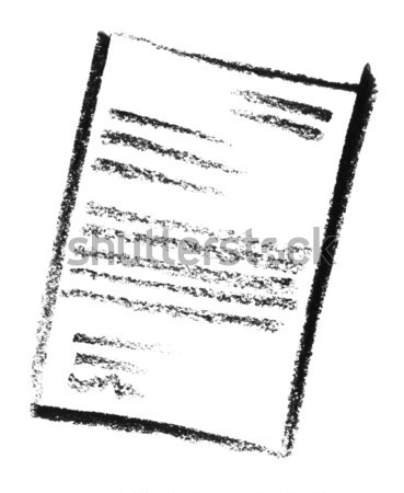 Bericht icon illustratie brief potlood papier Stockfoto © prill
