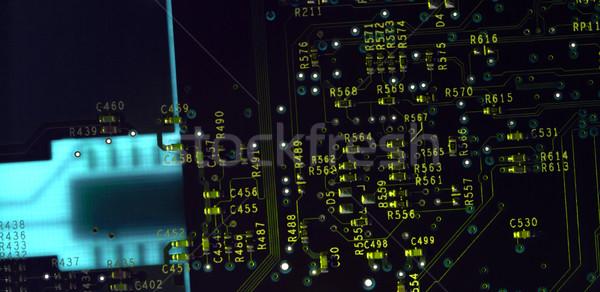 Nyáklap full frame részlet nyomtatott áramkör számítógép internet Stock fotó © prill