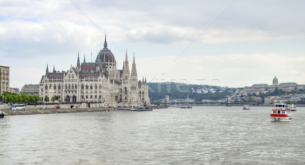 Ungherese parlamento costruzione scenario in giro Budapest Foto d'archivio © prill