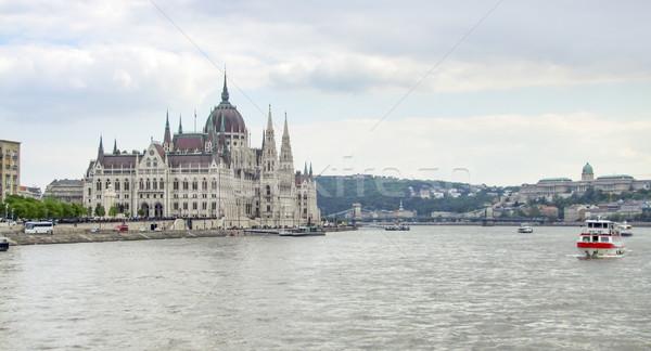 Parlamento Bina manzara etrafında Budapeşte Stok fotoğraf © prill