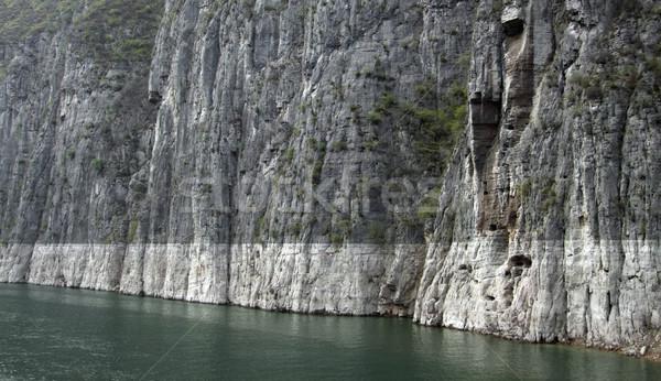 Kaya oluşumu nehir kaya yüz manzara Çin Stok fotoğraf © prill