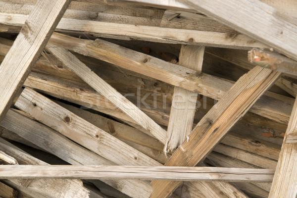 Houten chaos detail gebroken hout Stockfoto © prill