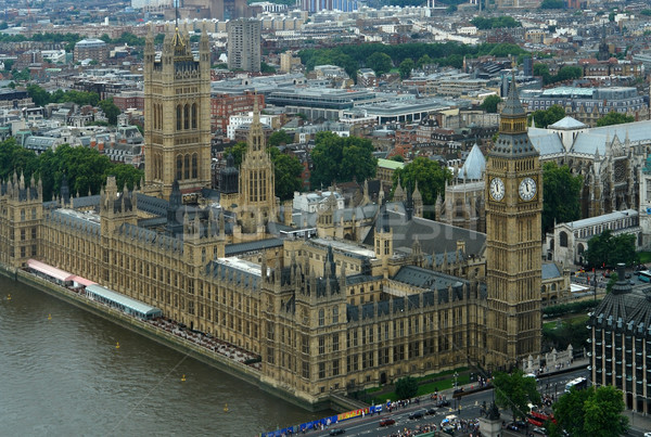 Houses of Parliament and London City detail Foto stock © prill