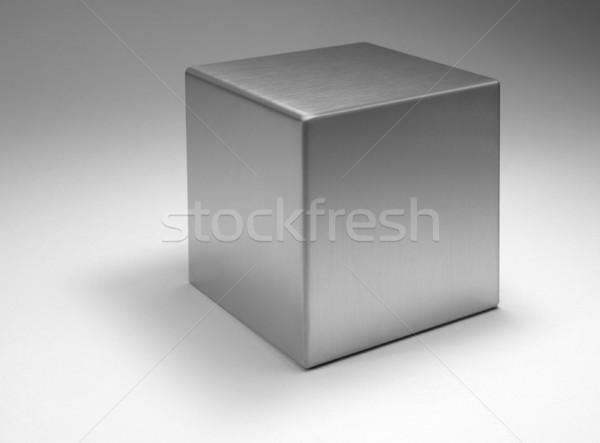 Sólido metálico cubo estudio fotografía metal Foto stock © prill