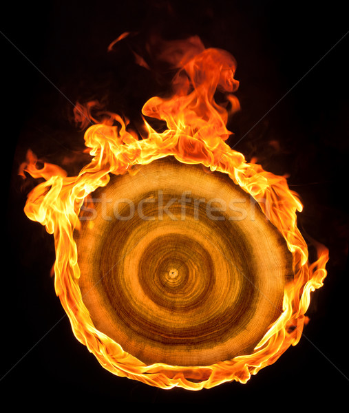 burning wooden sheave Stock photo © prill