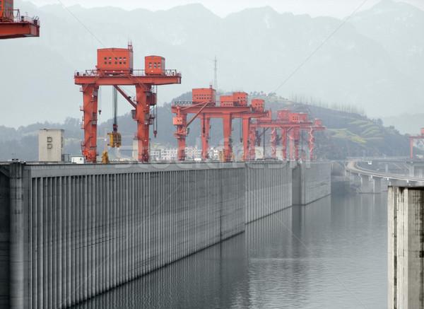 Three Gorges Dam in China Stock photo © prill