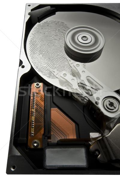 hard disk and fingerprint Stock photo © prill
