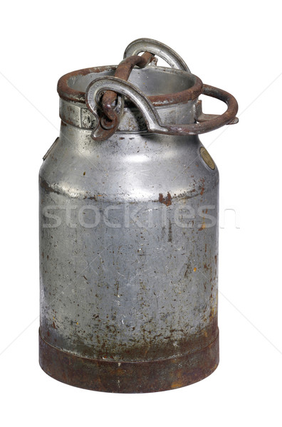rusty nostalgic milk can Stock photo © prill
