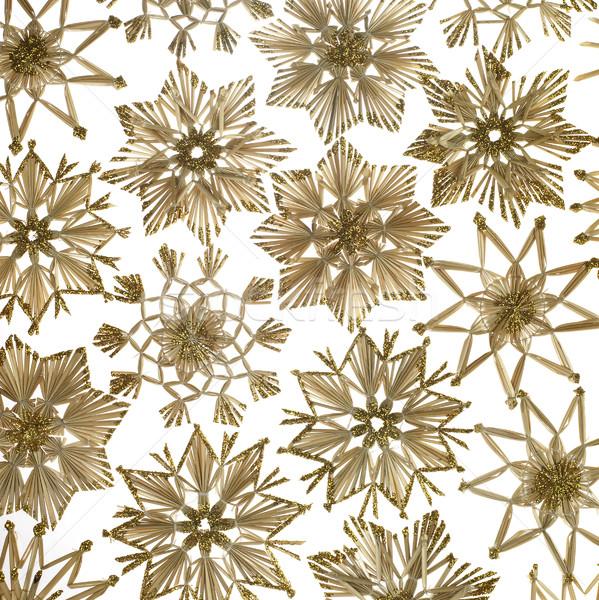 Stock photo: decorative straw star ornament