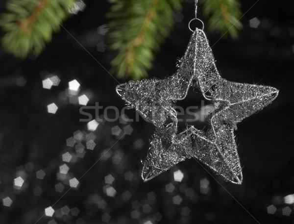 metallic Christmas deco star Stock photo © prill