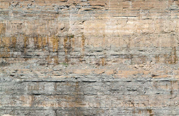 layered rock face Stock photo © prill