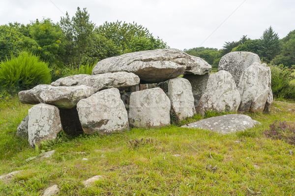 dolmen in Brittany Stock photo © prill