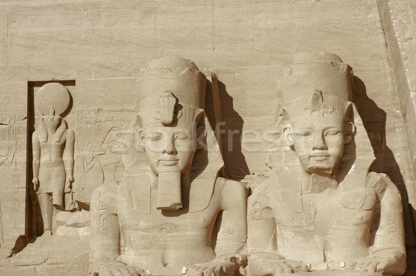 sculptures at Abu Simbel temples Stock photo © prill