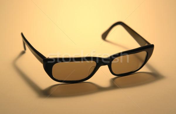 Siedemdziesiątych okulary studio fotografii oryginał ciepły Zdjęcia stock © prill