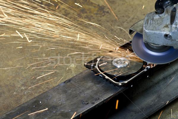 hard disk grinding Stock photo © prill