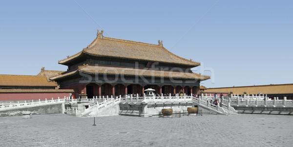 Tiltott város Peking épület Kína építészet ázsiai Stock fotó © prill