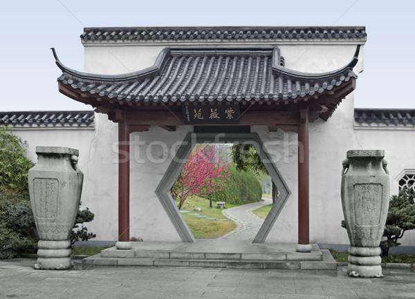 gate in Wuhan Stock photo © prill