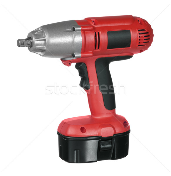 red and black cordless screwdriver Stock photo © prill