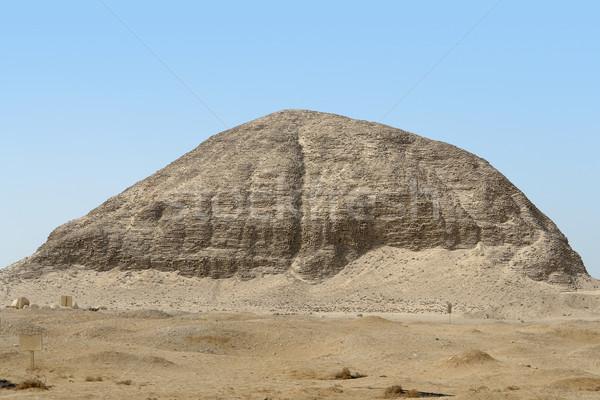 Archeologische plaats Egypte gebouw zand steen Stockfoto © prill