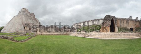 mayan temple in Uxmal Stock photo © prill