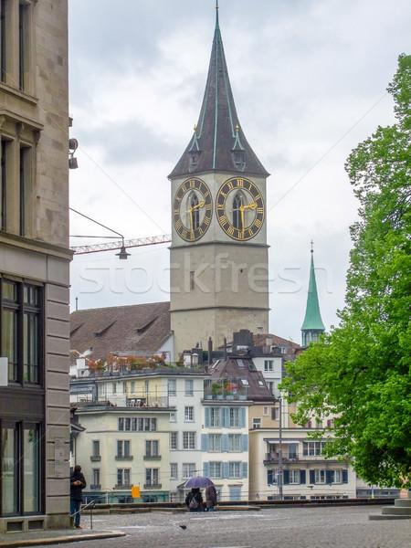 Zürih İsviçre şehir ev Stok fotoğraf © prill