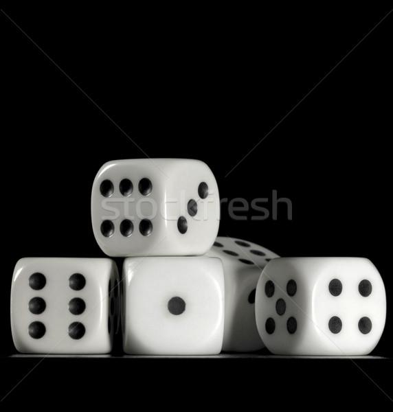 fallen dice Stock photo © prill