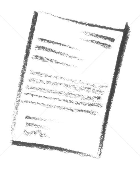 Document papier verf teken schilderij communicatie Stockfoto © prill