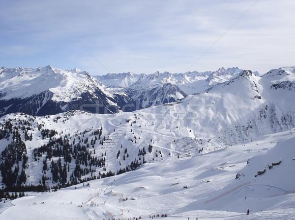 skiing in Montafon Stock photo © prill