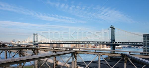 Manhattan Bridge and New York Stock photo © prill