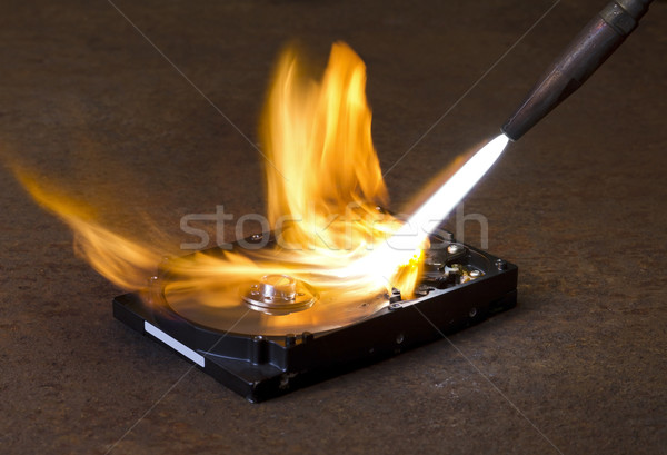 welding torch and HDD Stock photo © prill