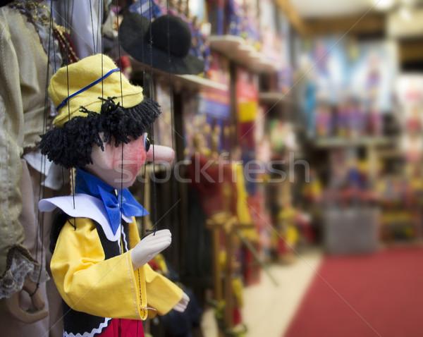 Marionett részlet Prága játék bolt orr Stock fotó © prill