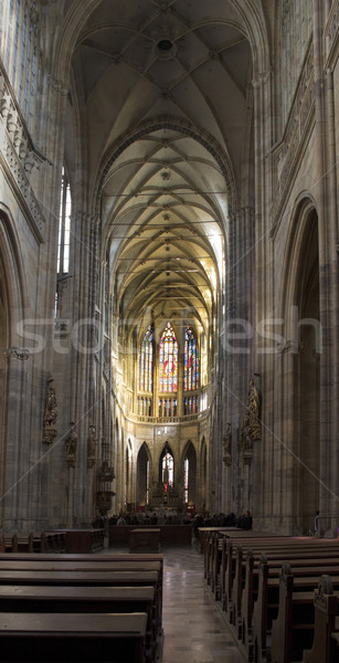 inside St. Vitus Cathedral Stock photo © prill