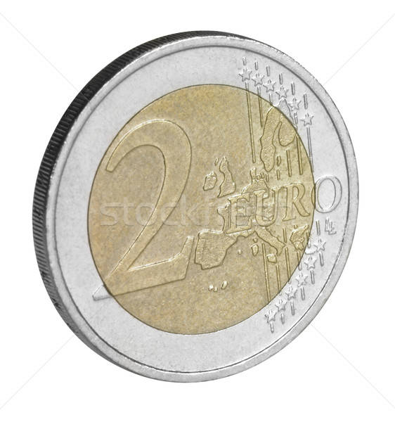 two euro coin closeup Foto stock © prill