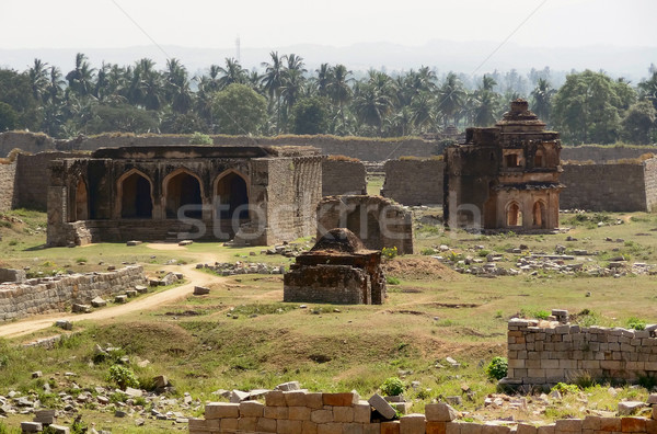 temple remains around Hampi Stock photo © prill