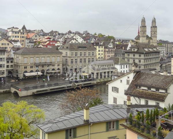 Zürih İsviçre görmek şehir Stok fotoğraf © prill