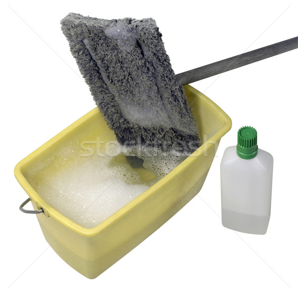 cleaning mop with bucket and cleaner Stock photo © prill