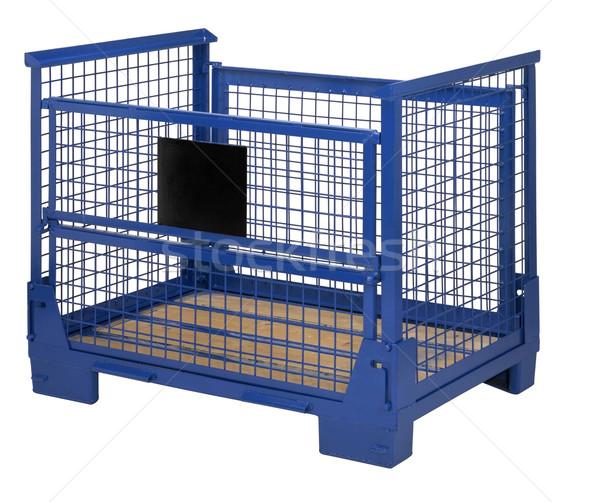 blue lattice box Stock photo © prill
