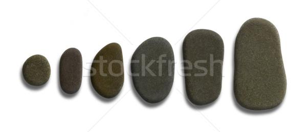 sorted flat pebbles Stock photo © prill