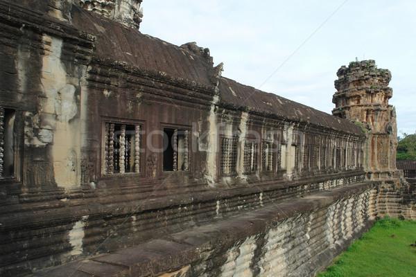 Angkor Wat pormenor templo complexo Camboja edifício Foto stock © prill