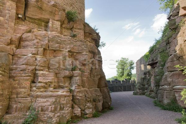 átjáró körül kastély díszlet déli Németország Stock fotó © prill