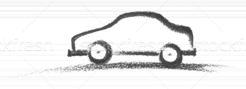Autó festék felirat mobil kommunikáció rajz Stock fotó © prill